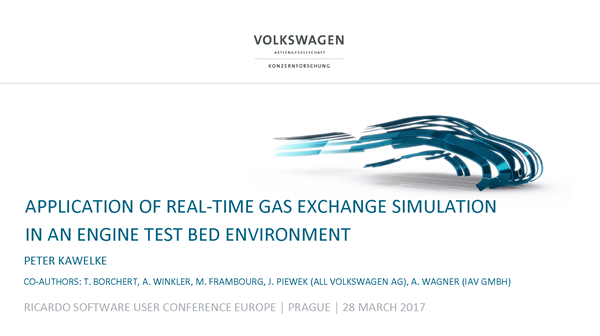 Application of real-time gas exchange simulation in an engine test bed environment